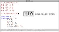 ediprolog: Emacs Does Interactive Prolog