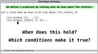 Writing Prolog Code